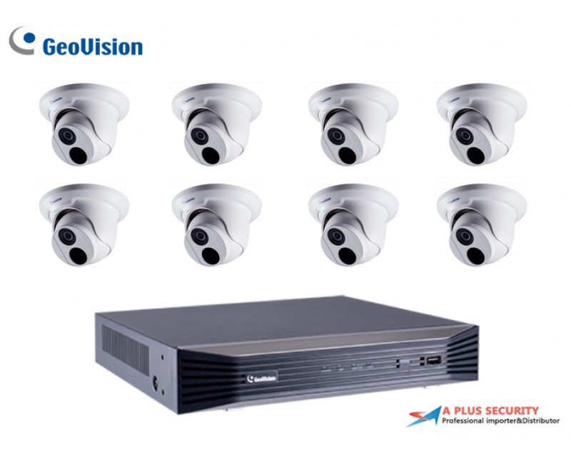 Geovision 8CH 2MP IP Camera Package