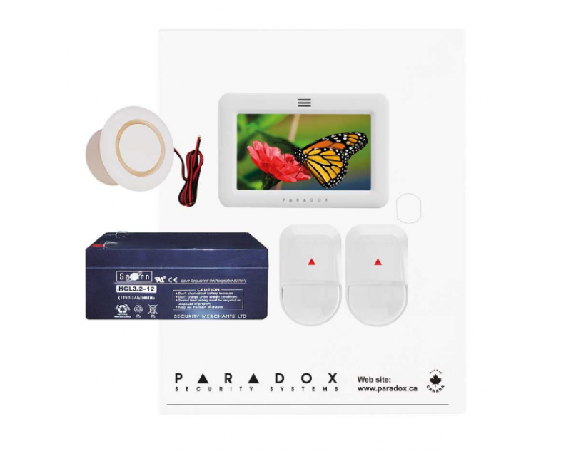 Paradox SP5500 NV TM50-White Kit with Small Cabinet & White TM50